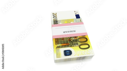 Packet of 200 Euro bills