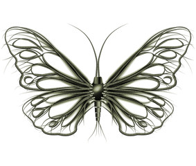 Steampunk butterfly made of pipes
