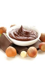 sweet chocolate hazelnut spread with whole nuts