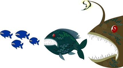 Deep monsters fishes