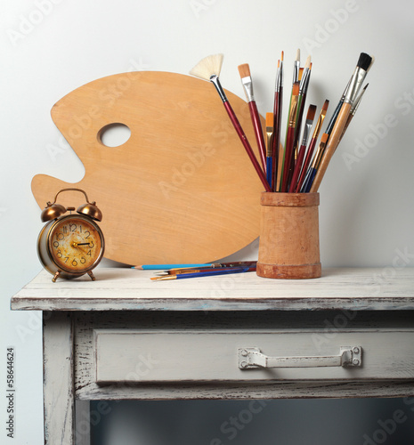 Still-life in studio of the artist