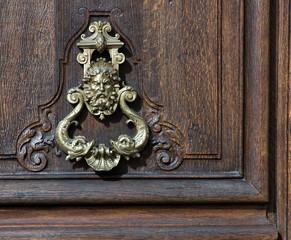 door knob with a face