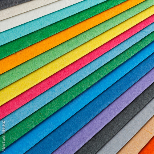 Colorful paper arrangement