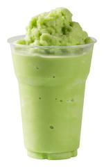 Milk Green tea smoothie