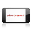 Marketing concept: Advertisement on smartphone
