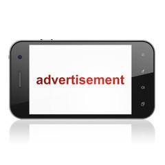 Marketing concept: Advertisement on smartphone