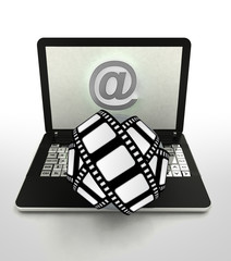 internet surfing and search info about movies