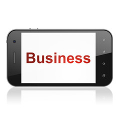 Business concept: Business on smartphone