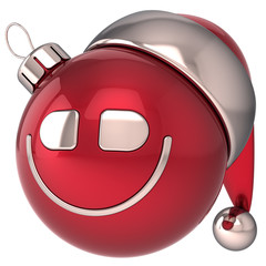 Christmas ball smiling New Year bauble happy smiley Santa