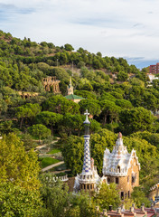 View of Park Guell in Barcelona - Spain
