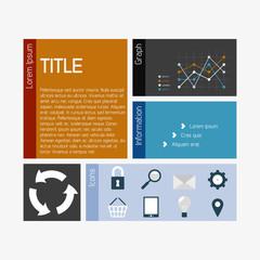 Vector flat infographics template