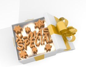 christmas gift box with christmas special symnol