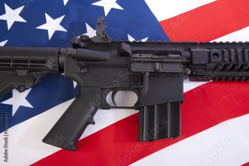Foto op Aluminium Jacht AR-15 Close Up