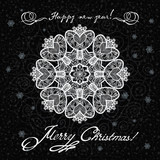 Greeting card with winter holidays for your design