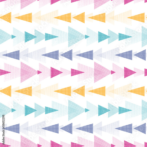 Vector abstract ikat textured arrows stripes seamless pattern