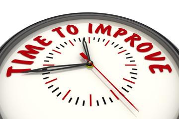 Time to improve (Время для улучшений). Часы с надписью