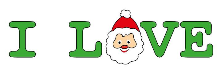 """Banner """"I love Christmas"""""""