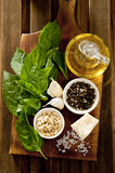 basil pesto ingredients.