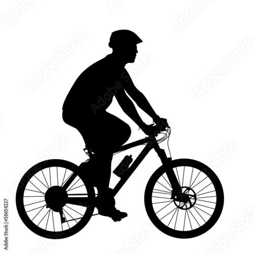 sylwetka-mezczyzny-rowerzysty-ilustracji-wektorowych