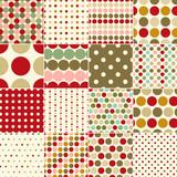 seamless christmas polka dots pattern