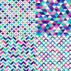 seamless colorful geometric pattern