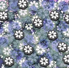 Grunge Repeating Flower Pattern