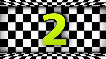 Racing Text and Countdown in Checker Flags