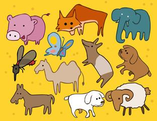 Animal set flat