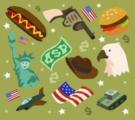 America set flat