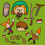 Indonesia culture set