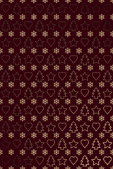 Brown gold new year wrapping paper or greetings card design