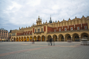 The Main Market Square in Cracow is the most important square of