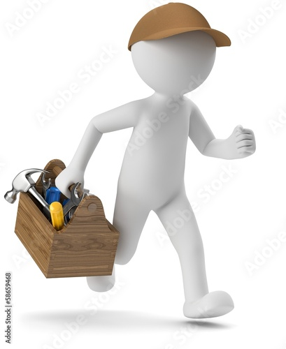 3d Männchen Handwerker Service