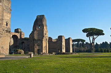 Rome, Aventine Hill, Baths of Caracalla, view