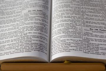 aufgeschlagene Bibel