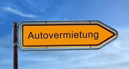 Strassenschild 8 - Autovermietung