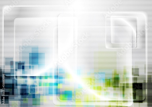 Vector tech bright background