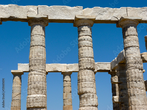 Temple of Poseidon Neptune in Sounio Greece