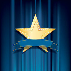 golden bulb blue banner