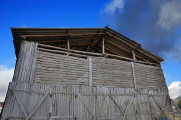 old tobacco farm, facade