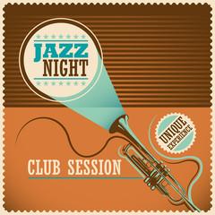 Retro jazz poster.