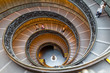 Leinwandbild Motiv Bramante Staircase, exit stairs from Vatican City