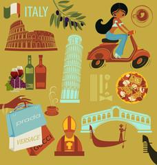 Italy Landmarks, Symbols and Icons