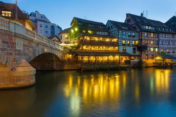 The Petite-France area in Strasbourg.