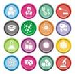 biotechnology round icon sets