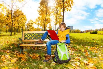 Boy after school