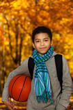 Basketball in autumn