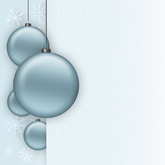 Christmas background - baubles and blank paper sheet