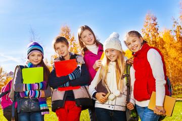 Teen kids after school