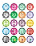 business round icon sets